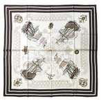 Silk Scarf, ST889079 Sailing, precision printed, made in Japan, made o