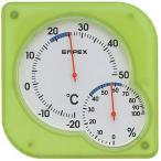 エンペックス 温湿度計 エンペックス アナログ 壁掛け 置き型 シュクレmidi温湿度計 グリーン TM-5603