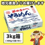 半田そうめん (手のべ) 3kg(300g×10束...