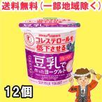 豆乳 ヨーグルト ブルーベリー 12個 ソヤファーム ポッカサッポロ トクホ【クール便配送】【発送重量★ 2.5kg】
