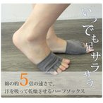 Socks In Pumps - 5本指 オープントゥ ハーフソックス 消臭 水虫 靴下 フットケア メール便送料無料