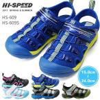 在庫限り 送料無料 キッズサンダル ハイスピード ジュニア スポーツサンダル HS609S HS609  アシックス商事 17SS04
