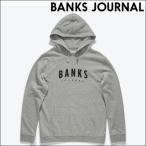 バンクス パーカー ヘザーグレー BANKS JOURNAL DISPATCH GRAPHIC FLEECE