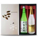 日本酒 ギフト お歳暮 2017 金箔入り 金彩 Kinsai + 加賀雪梅 純米酒 720ml 2本 セット 酒