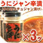 うに ウニ )うにジャン辛漬け 100g×3ヶ(たっぷり300g分) 瓶入り urchin