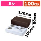 (プリンの箱)片段デザートケース 5ヶ/100枚入(20-314)