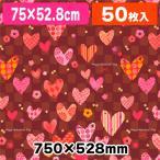 (包装紙)ギフトV ハートロマン/50枚入(K05-4901755231144)