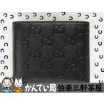 GUCCI(グッチ)2つ折り財布 145754-3661 グッチシマ  ブラック メンズ【中古】