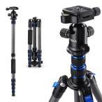 Tycka カメラ三脚 カーボンファイバー製 超軽量5段 全高58インチ/148cm旅行用三脚 Canon Nikon Petax Sonyなど用