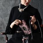 【FRUTTI】ピンクとレース。ピンクとブラック。乙女心くすぐる組み合わせでデザインした長財布Sera Charme(セーラ シャルム)