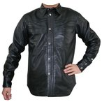MF-LJ115 ウエスタンレザーシャツジャケット ブラック 3Lサイズ MOTO FIELD(モトフィールド)