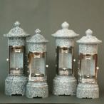 石のローソク立てガラス風防付 1型<標準型>  K-12 1対 お墓・墓参り・ローソク・ろうそく・蝋燭  お仏壇・仏具の浜屋   仏壇
