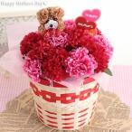母の日 送料無料 カーネーション5号鉢 造花 選べる3色 超早割 プレゼント 花 ギフト