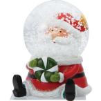 クリスマス飾り クリスマス スタンド サンタシッティングドール スノードーム