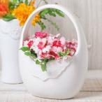 フラワーベース 花瓶 陶器 レースバッグフラワーベース