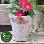 プランター おしゃれ 植木鉢 陶器 エレガントフラワープランター レッド Sサイズ 約4.5号
