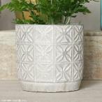 プランター おしゃれ 植木鉢 セメント製フラワーモザイク・スモールポット 約3.5号