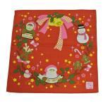 【在庫処分大特価】小風呂敷 日本製 綿100% クリスマス 【約50cm×50cm】 お弁当包み クロス タペストリー サンタ トナカイ 雪だるま 【メール便可】