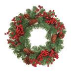 レッドベリーコーンリース   XH016571 02  /  / 花 資材 クリスマス資材特集 リース・スワッグ 完成品リー