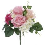 造花 YDM ローズブッシュ ビューティー FB2310-BTY|造花 バラ 01  造花 花材「は行」 バラ