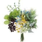 造花 YDM ハーブグリーンミックスバンドル ブルー FB-2519-BLU 造花葉物、フェイクグリーン ハーブ