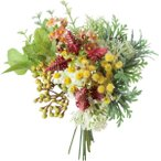 造花 YDM ハーブグリーンミックスバンドル レッド FB-2519-R 造花葉物、フェイクグリーン ハーブ