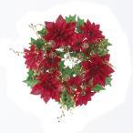 (造花)アスカ / ポインセチアリース   / AX68626-0(02) /  / 花 資材 クリスマス資材特集 リース・スワッグ 完成品リー