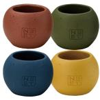 GREENHOUSE 魂の和 心安らぐNESTカジュアル 4色×各1個 4189S 01  4個  花器 花瓶 陶器花器