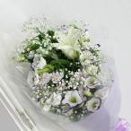 カサブランカとトルコキキョウのお供え花束