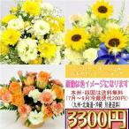 誕生日 記念日 お祝い イエロー・オレンジ系のおまかせアレンジメント3,300円