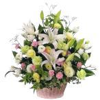 お供えアレンジメント-118021  (お供え・ご命日用・枕花用アレンジメント)花キューピット商品