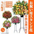 おまかせスタンド花1段-ST-15000 最寄りの花キューピット加盟店よりお届け (開店・開院・式典などお祝い用スタンド花)