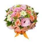 花束 - 511064(ピンク・オレンジ系のお花のブーケ風花束)花キューピット商品