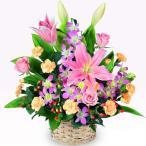 アレンジメント - 511254(ピンク系のお花が中心のアレンジメント)通年 花キューピット商品