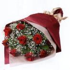 花束-511577(赤バラとかすみ草の花束) 花キューピット商品