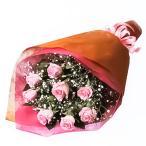 花束 - 511578 (ピンクバラとかすみ草の花束)花キューピット商品