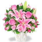 9月のおすすめ - 511782(ピンク系のお花のアレンジメント(カゴ付き))花キューピット商品