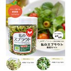 Yahoo!花ひろばオンライン ヤフー店私のスプラウト プロッコリー&ラディッシュ栽培セット ジャーで育てる新食感のスプラウト有機種子認証 家庭菜園 オーガニック