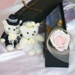 ショッピングフラワー プリザーブドフラワーの一輪バラをボックスに入れて 誕生日や記念日、結婚祝いや電報に ギフトメッセージ 送料無料 赤黄紫青緑