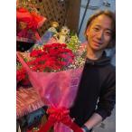 カーネーション20本の花束 母の日の大定番商品です。 母の日ギフト 大輪真っ赤なカーネーションのブーケ