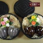 プリザーブドフラワーの花束とペアお湯呑の ギフトセット