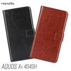 AQUOS Xx / Xx-Y 404SH ケース 手帳型 アクオス カバー puレザー スマホケース カード入れ スマホカバー シンプル 人気 格安 送料無料