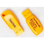 USBメモリ:SanDisk製純正新品Cruzer Blade 16GB(SDCZ50C-016G,オレンジ)メール便送料160円