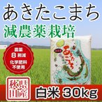 令和元年産米 秋田県産 あきたこまち 減農薬栽培 白米 30kg 農家直送