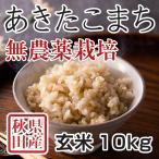 令和元年新米 秋田県産 あきたこまち 無農薬栽培 玄米 10kg 農家直送