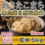 28年産米 秋田県産 あきたこまち 無農薬自然乾燥プレミアム 玄米 5kg 農家直送
