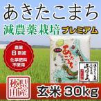 令和元年産米 秋田県産 あきたこまち 減農薬栽培プレミアム 玄米 30kg 農家直送