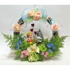 母の日ジブリ トトロ 花 アレンジ プレゼント リース部屋飾り「メイちゃん ありがとう」 ■サイズ 幅28×高さ22×奥行き8センチ
