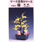 盆栽 ミニ 山久オリジナルビーズ盆栽キット 「花風水 梅 招き猫付」 黄梅/紅梅/白梅 bfk