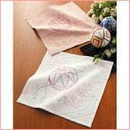 刺し子 キット 254 花ふきん2枚1組「桜と手まり」 オリムパス